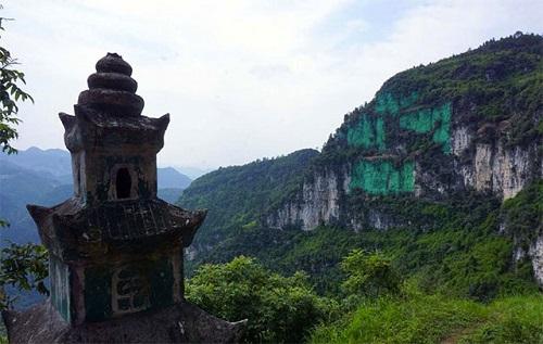 acantilado verde