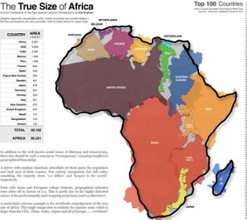 tamaño africa