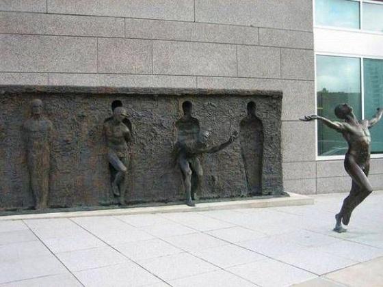 estatua fuga
