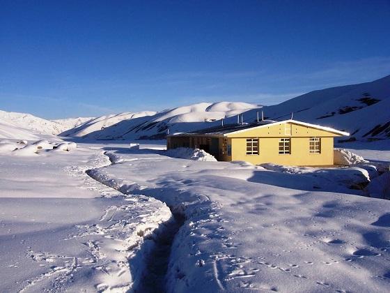 frontera en la nieve