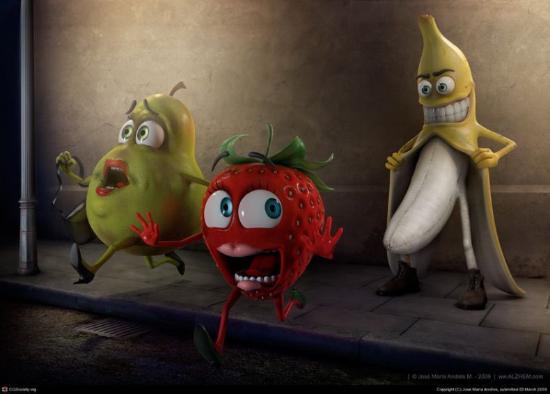 fruta 3d