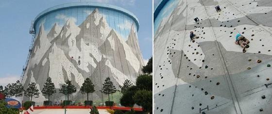 pared de escalada única