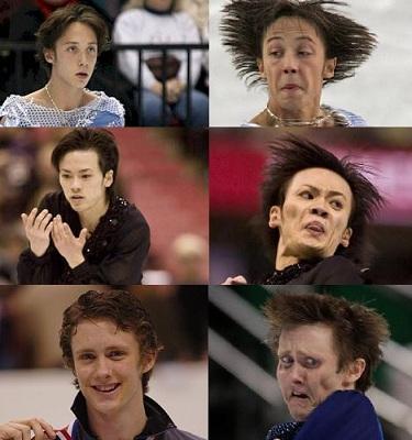patinadores sobre hielo
