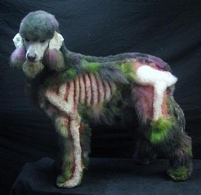 perro zombie